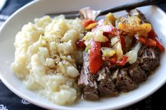 Mexican Flank Steak Slow Cooked