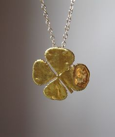 14K Gold Luck Necklace. Love!