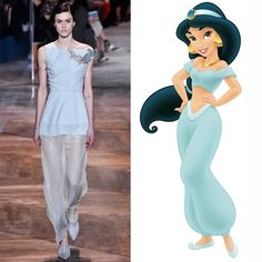 Pin for Later: You'll See These Couture Gowns on the Red Carpet — Unless the Disney Princesses Grab Them First Jasmine Wearing Dior Couture Jasmine's airy, chiffon look gets embellished with a shimmering patch at Dior.