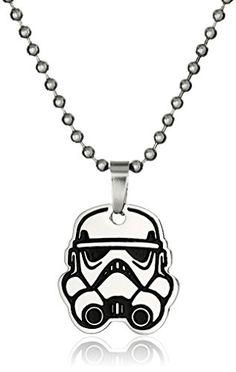 "Star Wars Jewelry Rebel Stormtrooper Chain Pendant Necklace, 17"" Star Wars Jewelry"