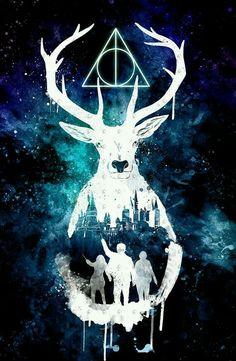 The Deathly Hallows | Golden Trio | Hermione, Ron, Harry | Patronus