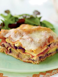 Zucchini Eggplant Lasagna - Summer Squash and Zucchini Recipes - Cooking Light Healthy Lasagna Recipes, Vegetarian Recipes, Cooking Recipes, Cheese Recipes, Paleo Lasagna, Lasagna Food, Veggie Lasagna, Cooking Tips, Easy Recipes