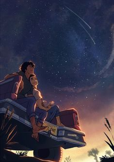 Tribute illustration to one of the most beautiful story I've ever read, Aristotle and Dante Discover the Secrets of the Universe, by Benjamin Alire Saenz Cute Couple Drawings, Cute Couple Art, Cute Couple Pictures, Cute Couples, Couple Pics, Dante And Aristotle, Love Cartoon Couple, Secrets Of The Universe, Fanart