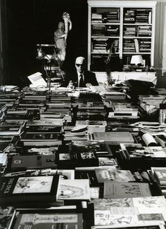 Karl Lagerfeld's home library, Paris