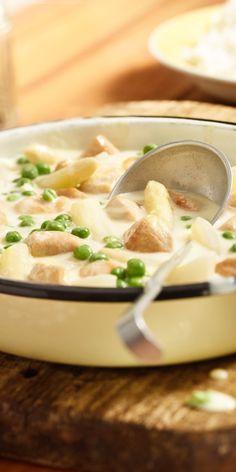 Klassisches Hühner-Frikassee muss sooo lange kochen. Diese Version geht echt schnell.