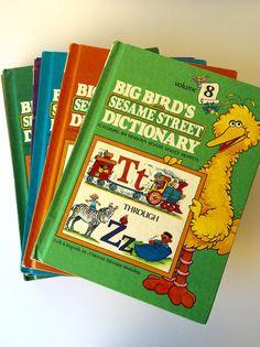 Vintage Set of Sesame Street Alphabet Books by TheGypsyVintage