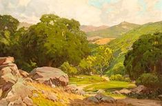Hanson Puthuff - Toganga Canyon, oil on canvas