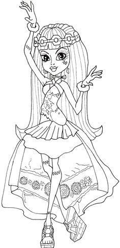 Monster High Frankie Stein Dancing Coloring Pages - Monster High Coloring Pages : KidsDrawing – Free Coloring Pages Online