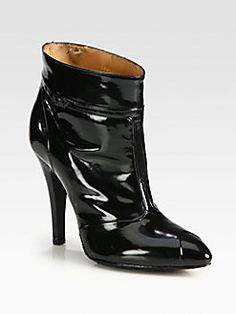 Maison Martin Margiela - Patent Leather T-Strap Ankle Boots, very slick