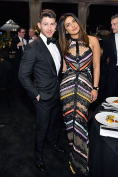Nick Jonas and Priyanka Chopra attend Learning Lab Ventures 2019 Gala Presented by Farfetch at Beverly Hills Hotel on January 2019 in Beverly Hills, California. Get premium, high resolution news photos at Getty Images Photos Of Priyanka Chopra, Priyanka Chopra Wedding, Stylish Couple, Fashion Couple, Nick Jonas, Sheer Dress, Bollywood Fashion, Bollywood Actors, Celebrity Style