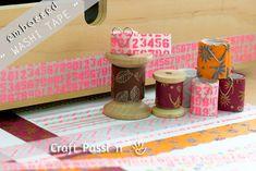 DIY  embossed washi tape