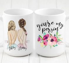 """Gift for girlfriend - Soul Sisters - Unique Friendship Gift This is the perfect gift for your best friend both want. The back reads """" you're my person Your Best Friend Will Obsess . Diy Gifts For Mom, Diy Gifts For Friends, Diy Holiday Gifts, Homemade Christmas Gifts, Best Friend Gifts, Gifts For Family, Bff Gifts, Best Friend Christmas Gifts, Sister Gifts"""
