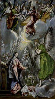 """""""La Anunciación"""", El Greco, 1597-1600"""