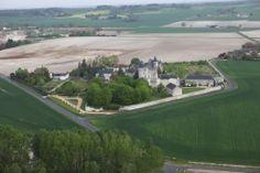 Flying over Chateau de la Motte