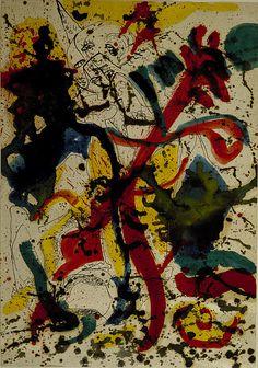 Jackson Pollock - Untitled, 1942-1944