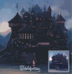 Cross stitch pattern  Hogwarts Castle  INSTANT от Triolefantasy