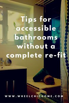 How to make your bathroom accessible without a complete re-fit or re-furb. Some ideas on the blog on how to have great disabled bathroom design that functions for disability as well as look cool. See more on my blog for the full story>>> See it. Believe it. Do it. Watch thousands of spinal cord injury videos at SPINALpedia.com