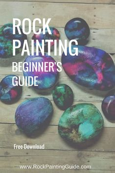 Start here, for Rock Painting Beginner's Guide! Learn all about rock painting and painted rock crafts! Pebble Painting, Oil Painting Abstract, Pebble Art, Stone Painting, Painting Art, Pour Painting, Painting Tips, Painting Techniques, Watercolor Painting