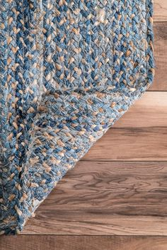 Boardwalk Hand Braided Denim And Jute Interwoven Solid Rug Rugs USA – Area Rugs in many styles including Contemporary, Braided, Outdoor and Flokati Shag rug Recycled Denim, Recycled Art, Basket Weaving, Hand Weaving, Denim Scraps, Denim Rug, Solid Rugs, Braided Rugs, Woven Rug