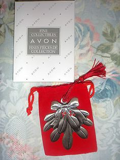 2003 Avon Pewter Snowflake Christmas Ornament with Pouch ...