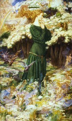 The Lover's World ~ Eleanor Fortescue Brickdale ~ (English: 1871-1945)