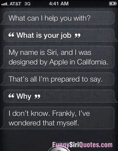 What is your job, siri?
