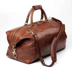 Allen Edmonds Strand Duffel Bag 98590A Walnut Leather #menstyle #accessories