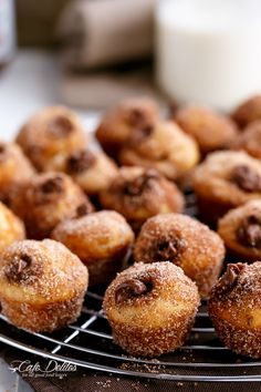 Cafe Delites | Nutella Churro Donut Holes | http://cafedelites.com