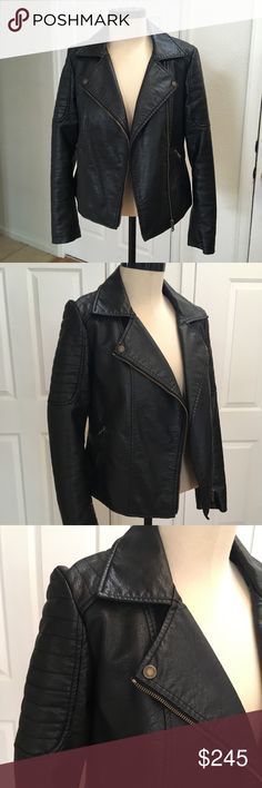 Vince Camuto Leather Asymmetrical Zip Moto Jacket Vince Camuto Leather Asymmetrical Zip Moto Jacket, Size M. Bad Ass Motorbike Jacket! NWOT Vince Camuto Jackets & Coats
