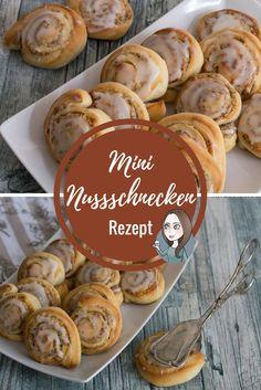 Mini Nusschnecke suesse Teile Kaffee Rezept Nachtisch Frühstück Nuss Schnecke