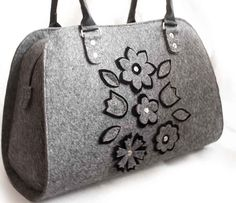 Ladies felt bag Shopper bag Womens handbag Felted purses Bag