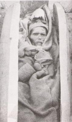 The Mummies of Tarim Basin - Xinjiang Province of China,A Tarim Basin mummy photographed by Aurel Stein circa 1910