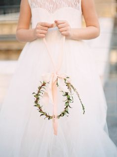 Floral crown: http://www.stylemepretty.com/2015/04/16/will-you-be-my-flower-girl-shoot/   Photography: Nicole Berrett - http://www.berrettphotography.com/