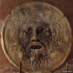 """The """"Mouth of Truth"""" is an ancient Roman sculpture, thought to be an image of a Pagan God. The myth behind it is, that if you place your hand in it's mouth and tell a lie, it will bite it off!"""