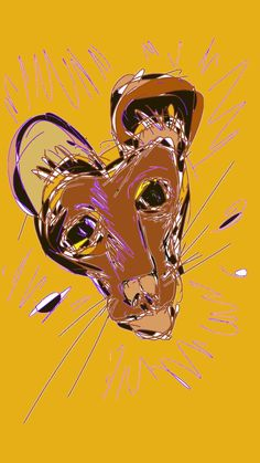 lioness abstract by ladysusie on DeviantArt