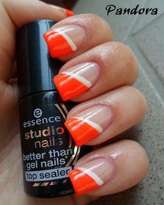 Pandora nails: Want Red & Black