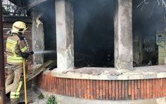 Provocan un fuego en la caseta abandonada y en ruinas de la desaparecida fábrica de Sefanitro