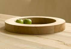 Bowl in grey Elm wood as part of the Primitive collection by Vincent van Duysen for Belgium manufacturer When Objects Work.