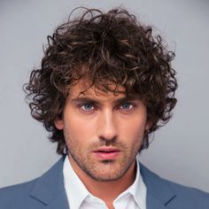 From short curly styles to long man buns, here are our favorite men's hairstyles for curly hair. ~~Get yourself brand new look with this guide right now! Long Curly Hair Men, Curly Full Lace Wig, Boys With Curly Hair, Haircuts For Curly Hair, Curly Hair Cuts, Curly Hair Styles, Cool Hairstyles, Layered Hairstyles, Black Hairstyles