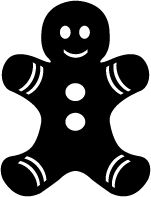 Ginger bread cookie man svg file