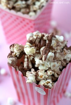 Hot Chocolate Popcorn. A friend made this and it is super delicious! microwave smart pop kettle corn.