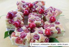 Bögrés cseresznyés süti
