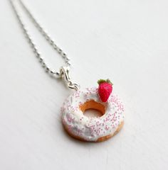 Hey, I found this really awesome Etsy listing at http://www.etsy.com/listing/121744425/donut-necklace-food-necklace-food