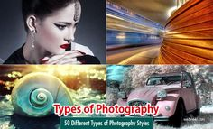 It is a combination of different types of photography techniques which provides the viewer a message in the form of art. It's all about the right angle, correct lighting and great lens. For diff Hi Speed Photography, Rainbow Photography, Storm Photography, Panoramic Photography, Motion Photography, Infrared Photography, Passion Photography, Perspective Photography, Types Of Photography