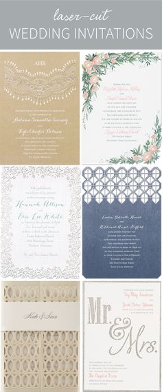 Laser-cut wedding invitations add unique, intricate details that add up to a work of art!