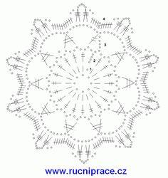 vlocka1-predloha.gif (600×636) Crochet Doilies, Snowflakes, Alphabet, Knitting, Image, Art, Crocheting, Rugs, Bookmarks