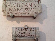 Untitled | Sarah E. Bond | Flickr Roman Man, Stone Carving, Bond, Lettering, Decor, Theater, Stone Sculpture, Decoration, Drawing Letters