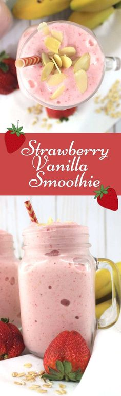 Splendid Smoothie Recipes for a Healthy and Delicious Meal Ideas. Amazing Smoothie Recipes for a Healthy and Delicious Meal Ideas. Smoothie Packs, Smoothie Proteine, Vanilla Smoothie, Fruit Smoothies, Healthy Smoothies, Healthy Drinks, Healthy Recipes, Protein Recipes, Honey Recipes