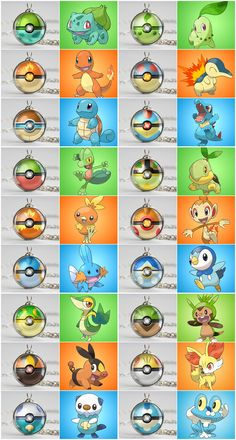 Pokeball pendants based on all the Starters! #pokemon #gaming #jewelry