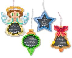 Ornament Gift Tags - Christmas Perler Project Pattern